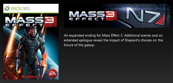 New Mass Effect 3 ending available for download on Xbox