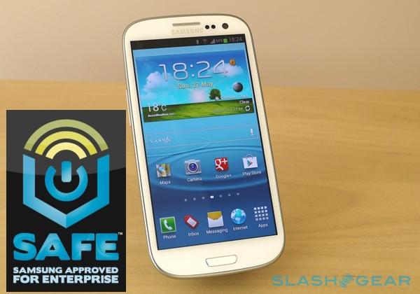 Samsung SAFE Galaxy S III tackles enterprise security