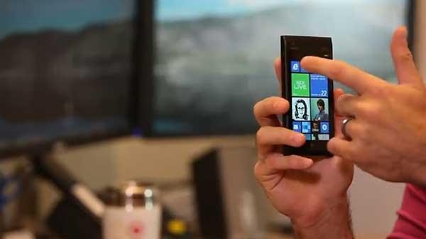 Windows Phone 7.8 Start Screen shown off on video