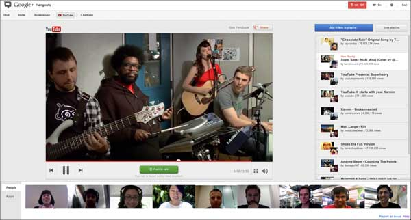 YouTube makes it easier to have a party in Google+ Hangouts