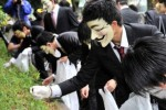 Anonymous picks up litter in latest protest effort