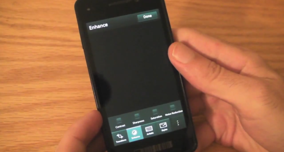 BlackBerry 10 features built-in picture editor