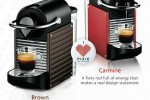 Nespresso's Pixie coffee maker made from used coffee capsules
