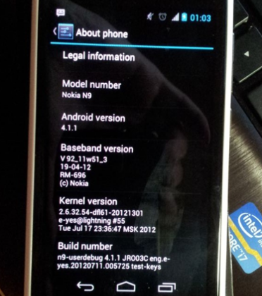 Nokia N9 sees Jelly Bean port