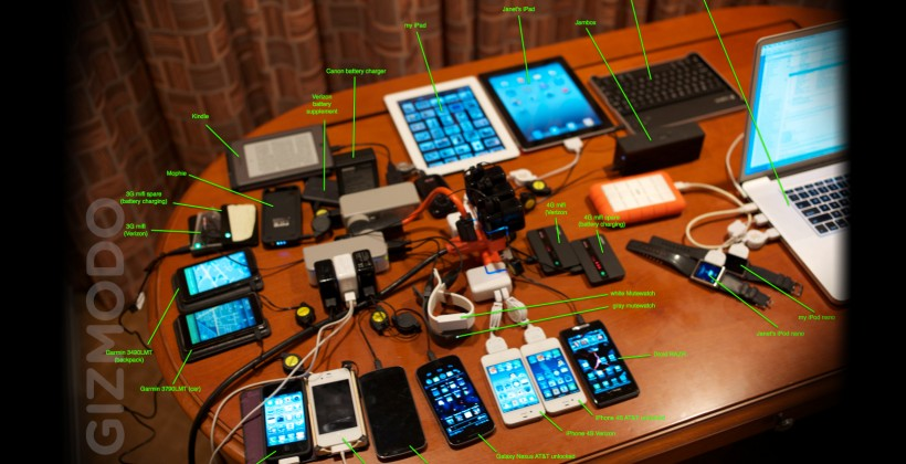 Steve Wozniak's travel backpack is filled to the brim with gadgets