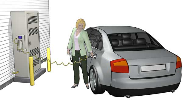 GE researchers are working on a home refilling station for natural gas vehicles