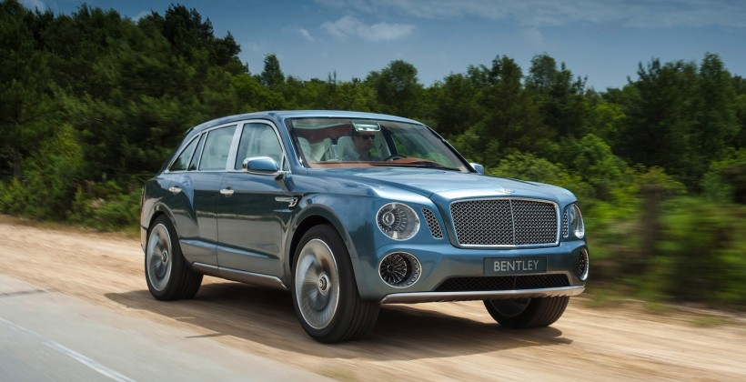 Bentley EXP 9 F SUV goes (very slightly) off-road on way to showrooms