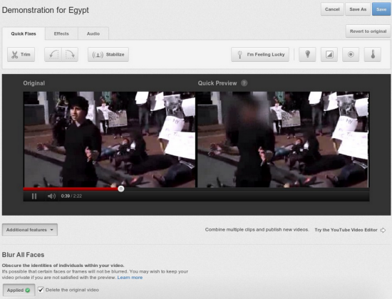 YouTube brings face blurring feature to videos