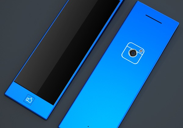 "Facebook phone concept appears with ""like"" home button"