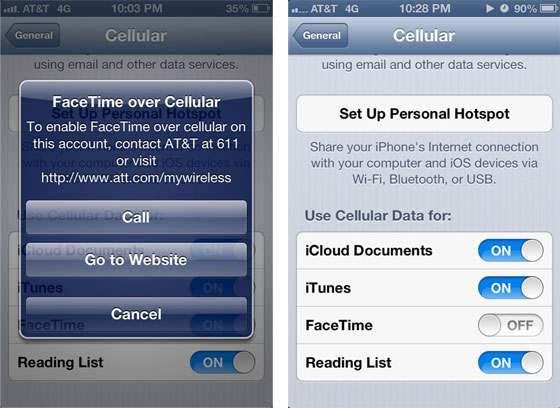 AT&T FaceTime 3G fees tipped for iOS 6