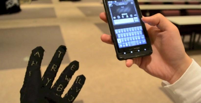 Gauntlet keyboard-glove is ideal Google Glass finger foil