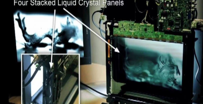 Cheap Glasses-free 3D research tips LCD sandwich