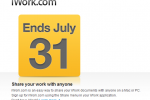 iWork.com to shut down July 31 following MobileMe