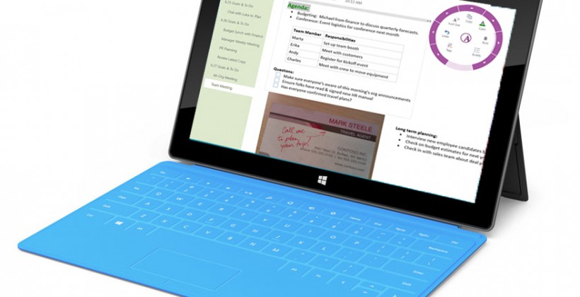 OneNote MX should be Microsoft's Windows 8 content creation hub