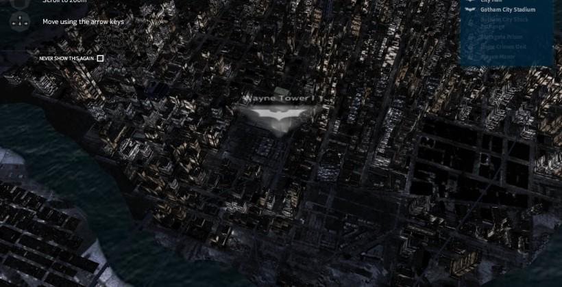 "Nokia 3D Gotham map for Batman ""Dark Knight Rises"" goes live"