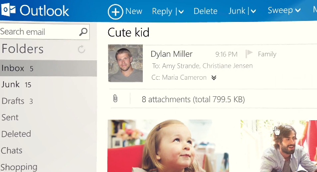 Outlook.com takes on Gmail directly with first ad spot