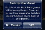Rock Band for iOS to be pulled from App Store on July 31
