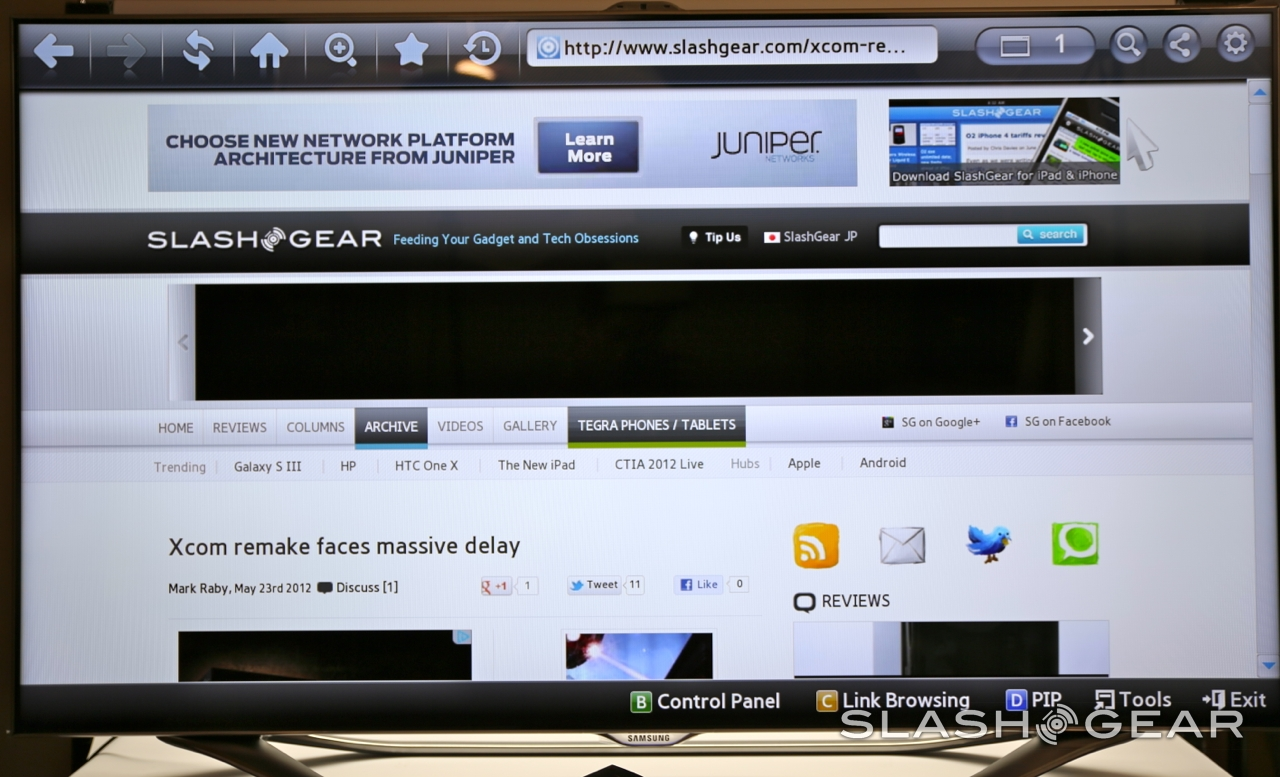 Samsung UN55ES8000 55-inch Smart TV Review - SlashGear