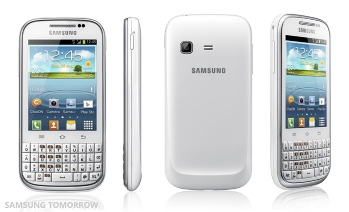 Samsung Galaxy Chat pairs QWERTY candybar with Ice Cream Sandwich