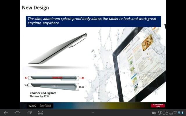 Sony Xperia Tablet revealed