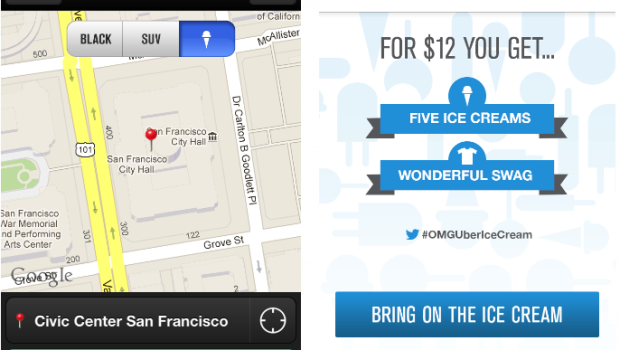 Uber tries out on-demand ice cream trucks