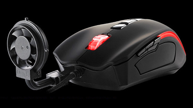 Thermaltake puts external fan on Cyclone gaming mouse