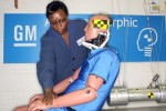 GM BioRID crash test dummy helps evaluate rear impact injuries