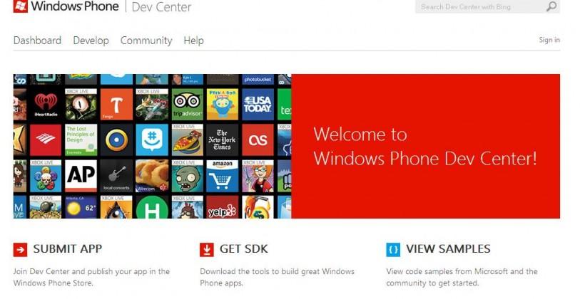 Microsoft revamps Windows Phone Dev Center