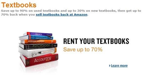 Amazon kicks off textbook rental program for students