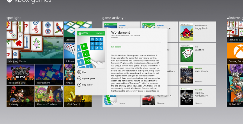 Xbox games revealed for Windows 8 PCs for continued cross-platform action