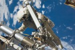 Cosmonauts on ISS take a spacewalk