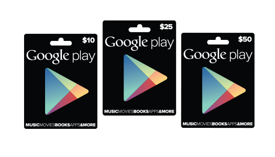 Google Play gift cards hit Target, GameStop, and RadioShack