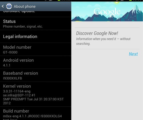 Samsung Galaxy S III Jelly Bean firmware leaks