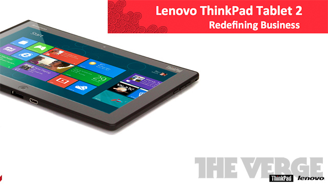 Lenovo ThinkPad Tablet 2 leaks: Win 8 with keyboard dock and pen [Updated]