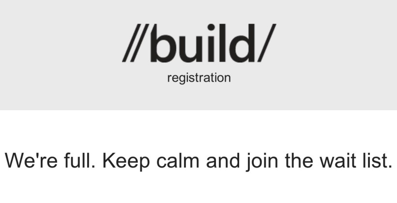 Microsoft Build 2012 sells-out in an hour