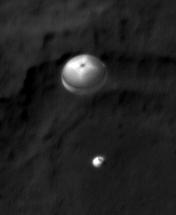 Curiosity landing photo from NASA's Mars Orbiter revealed