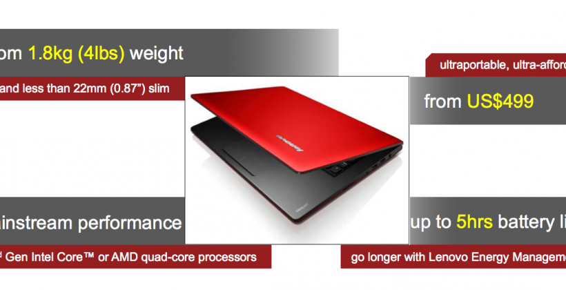 Lenovo IdeaPad S Series Laptops get thin and affordable