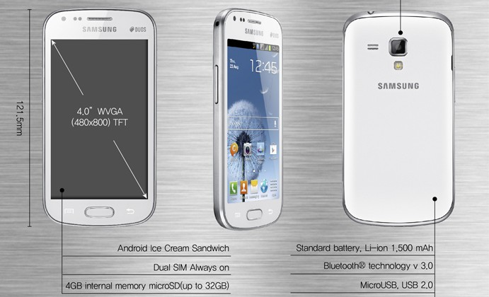 Samsung Galaxy S DUOS: Android 4.0 smart phone with two SIM cards