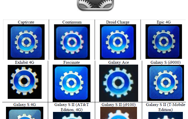 "Samsung ""icon theft"" images shown by Apple"