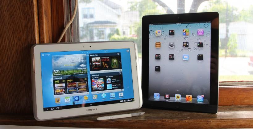Samsung Galaxy Note 10.1 vs iPad 3rd Gen