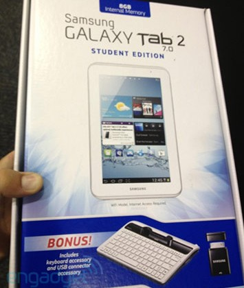 Samsung Galaxy Tab 2 7.0 Student Edition coming soon