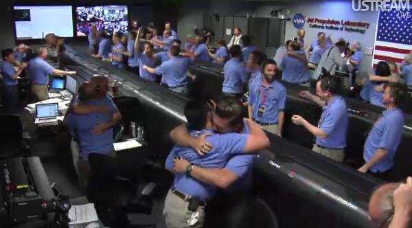 NASA Mars Rover Curiosity makes a perfect landing