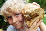 UK Boy finds rare whale vomit