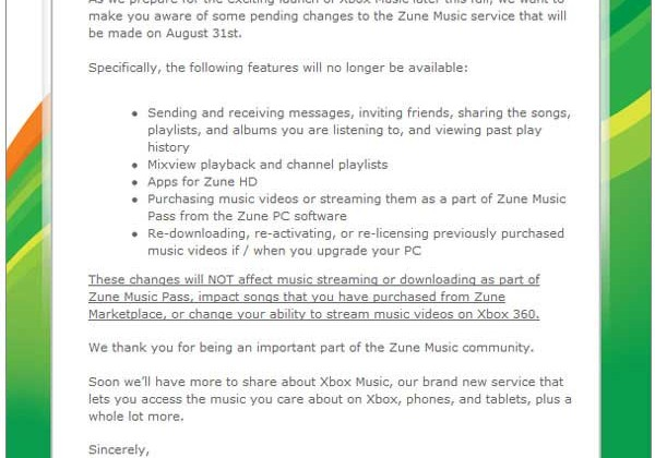 Changes are afoot for Zune users
