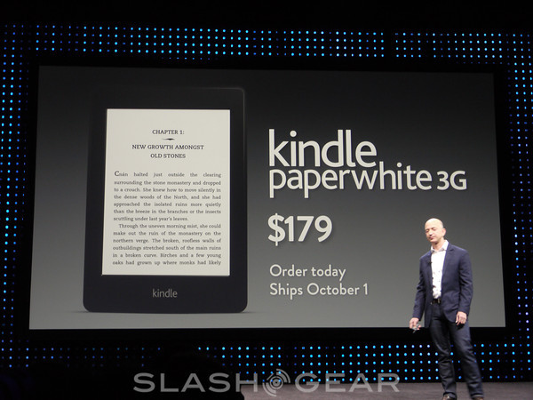Kindle Paperwhite 3G priced at $179 while original gets