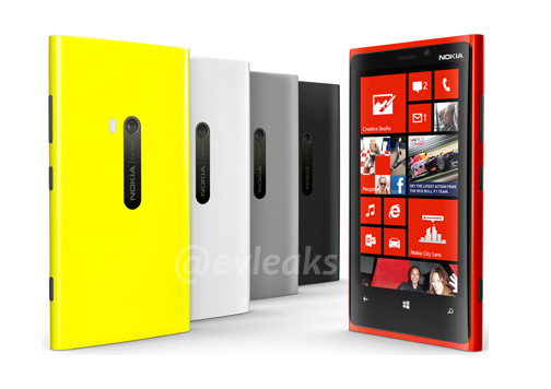 Nokia Lumia 920 appears in five color leak
