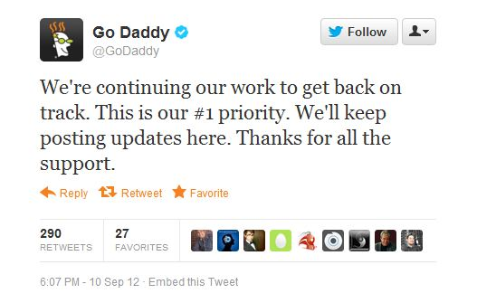 Anonymous attack brings down tons of GoDaddy sites