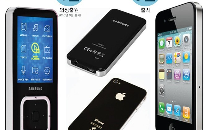 Samsung: Hey, doesn't the iPhone 4 look a lot like our old MP3 players