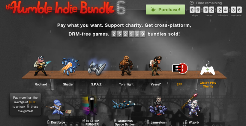 Humble Indie Bundle 6 comes packing with Torchlight, Bit.Trip Runner, and more