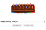 Google turns 14 today, celebrates with cake doodle